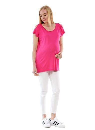 Motherway Maternity Tişört Fuşya